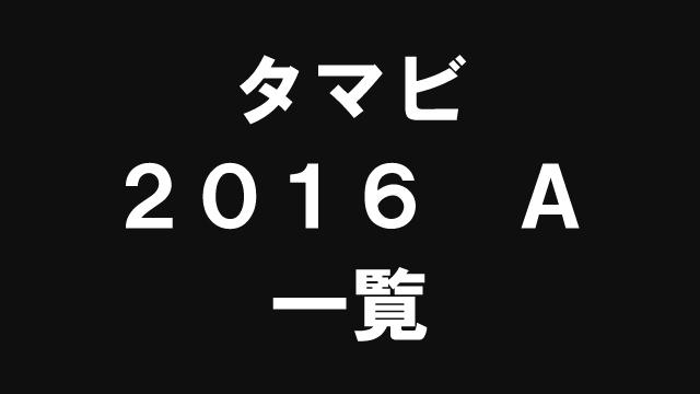 【一覧】タマビ・2016・A日程【過去問解説】
