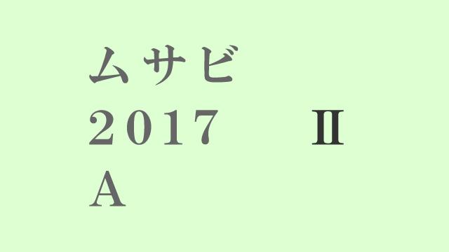 ムサビ2017AⅡ