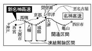 新名神の建設理由 HPから消えた—穀田氏の追及受け西日本高速