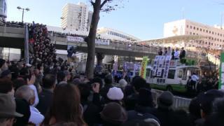 撮った!ネトウヨの星・安倍晋三総裁!!大観衆に向け日教組への「宣戦布告」を語る!!