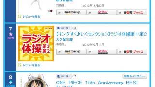 【画像アリ】あまりにもCDが売れないので「ラジオ体操第一・第二」がランクイン