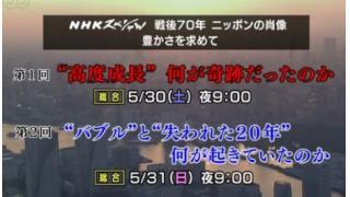 経済の本質が隠微されていた、昨日の「NHK 戦後70年 ニッポンの肖像 失われた20年」