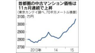 (有料)首都圏の不動産価格の上昇の理由について