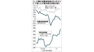 (有料)9月の欧州の物価がマイナスに。欧米日の中央銀行が700兆円もマネーを創造しているのに物価が上昇しにくい理由