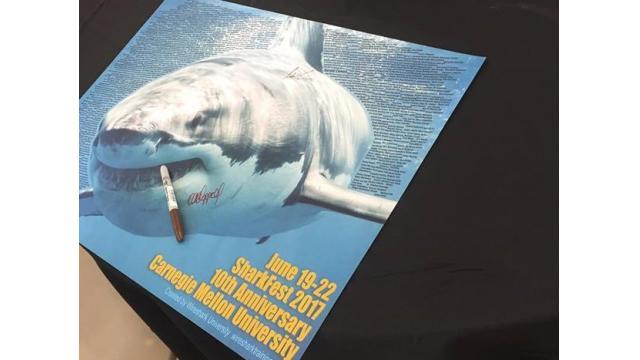 Wiresharkのコントリビューターのポスターにサインしてもらいました!