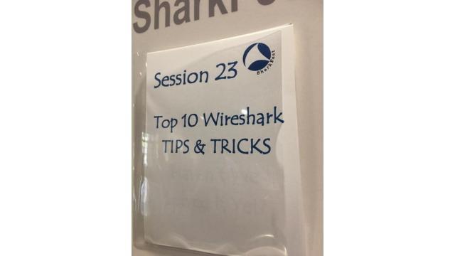 TOP 10 Wireshark TIPS & TRICKS Sharkfest2017で講演しました