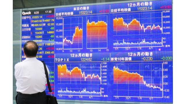 荒っぽい株式市場