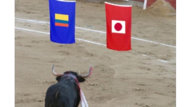 闘牛が勝敗予想 W杯コロンビア戦は「日本勝利」 沖縄・応慶牧場