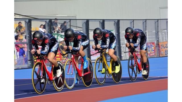 2017えひめ国体・自転車競技トラックレースが開幕! 初日はチームスプリント予選で男子は青森と福島(ともに大会新記録)、女子は東京と福岡が決勝進出。男子団体追抜予選は福岡と富山(ともに大会新記録)が決勝へ