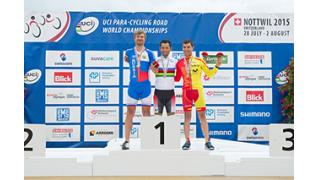 2015パラサイクリングロード世界選で 藤田がアルカンシエル獲得!