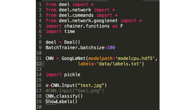【機械学習】ChainerでGoogLeNetから画像をファインチューニングでお手軽学習【わずか22行で】