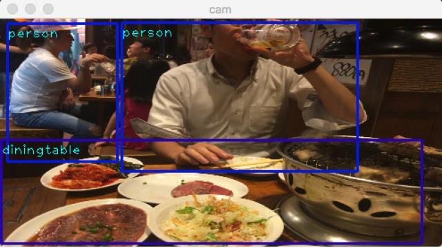 【リアルタイム】SSD-mxnetを魔改造してカメラから直接画像を流し込む【物体検出】