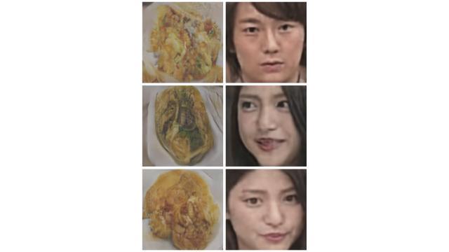 【深層学習】顔から料理、料理から顔を生成するCycleGANを作った【よろしく哀愁】