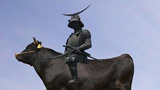 【エイプリルフール】杜の都の新たなシンボル「伊達政宗仙台牛(肉牛)像」が一般公開