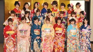 川栄李奈ら、AKB48グループの新成人22人が艶やかな振袖姿を披露!!