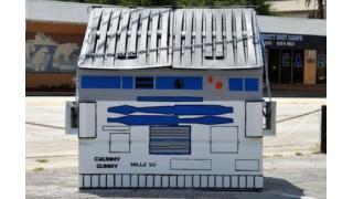街のゴミ箱を「R2-D2」っぽくラクガキしたら好評すぎて観光名所になっちゃった