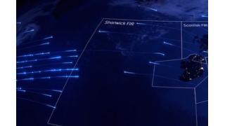 """イギリス上空はこうなっていた!年間220万機の航空機が通る""""空の道""""を可視化した映像"""