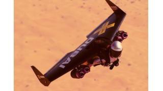 人間が自由に空を飛べる「ジェット・パック」を使ったアクロバティック飛行