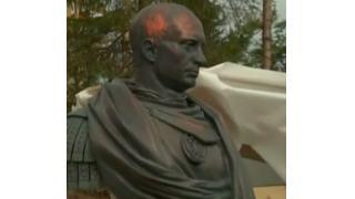 ローマ皇帝の衣装を着たプーチン大統領だと!? 迫力満点、全高50cmの胸像が完成