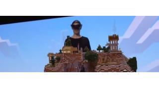 マイクラの世界を触って遊ぶ MSが開発中のARデバイス「ホロレンズ」の実機デモ映像