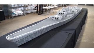 全長7mオーバー!米国最後の戦艦「ミズーリ」を100万個以上のレゴブロックで再現