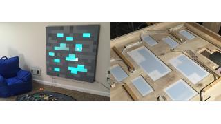 ダイヤモンドだー!「マインクラフト」原石ブロックを1/1スケールで再現したウォールパネル