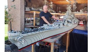 超弩級サイズの「戦艦 ミズーリ」レゴシップを作り上げたマニア親父の部屋がやばい