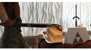「ゼルダの伝説」マスターソードでケーキ入刀!とあるゲーマー夫婦の素敵な結婚式が話題に