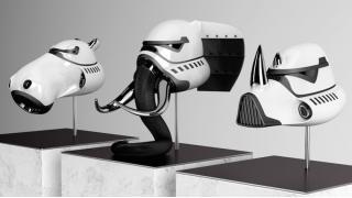 これは間違いなく帝国軍最強の部隊になる ゾウ、サイ、カバをモチーフとした「アニマルトルーパー」のヘルメット