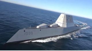 レールガン搭載予定の米軍最大級の最新ステルス駆逐艦「ズムウォルト」が航行試験を開始!なお艦娘っぽい擬人化イラストも作られ始めている模様