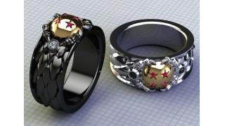永遠の愛を「ドラゴンボール」四星球に誓う ダイヤモンドとプラチナを使ったゴージャスな指輪