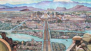 武士道アングルとアステカ文明の起源水上都市テノチティトラン