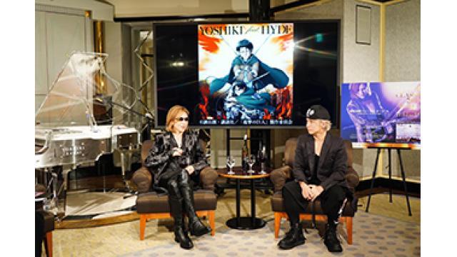 『YOSHIKI CHANNEL』ビッグサプライズ連発の神回に!YOSHIKI feat.HYDE「Red Swan」全編楽曲世界初公開