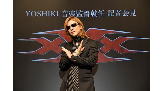 YOSHIKIトリプルX最新作「xXx 4」音楽監督就任の記者会見を開催 さらにTVシリーズのプロデューサー就任と、映画へのカメオ出演決定 「まさかハリウッド映画に出演することになるとは思わなかった」