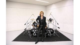 YOSHIKI 愛用スペシャルドラムセットをチャリティーオークション!!