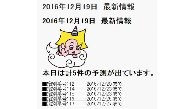 2016年12月19日 最新情報