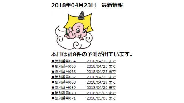 2018年04月23日 最新情報