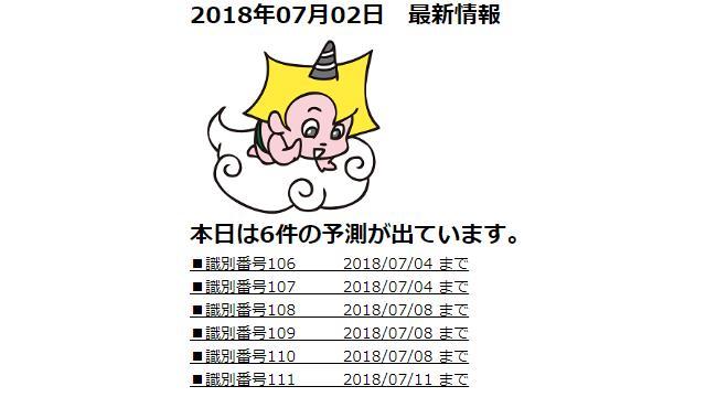 2018年07月02日 最新情報
