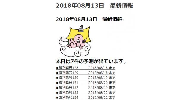 2018年08月13日 最新情報