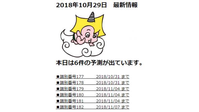 2018年10月29日 最新情報