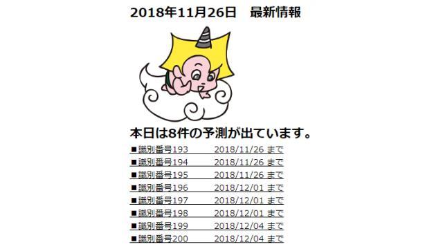 2018年11月26日 最新情報