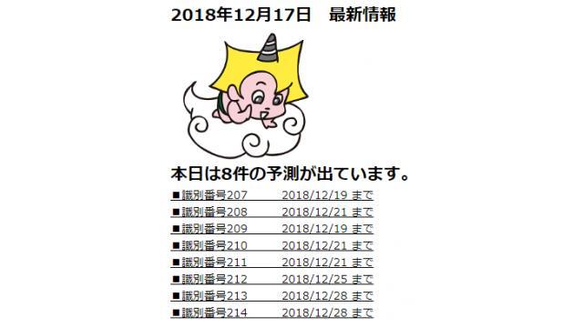 2018年12月17日 最新情報