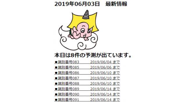 2019年06月03日 最新情報