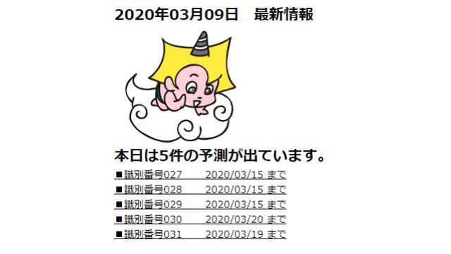 2020年03月09日 最新情報
