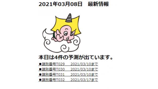 2021年03月08日 最新情報