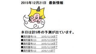 2015年12月21日 最新情報