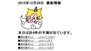 2015年12月28日 最新情報