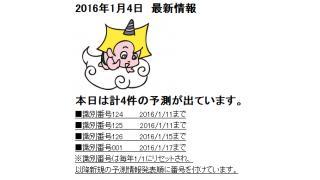 2016年1月4日 最新情報