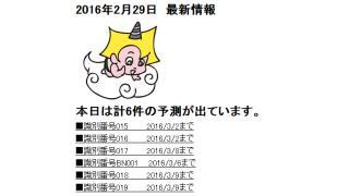 2016年2月29日 最新情報