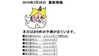 2016年3月28日 最新情報
